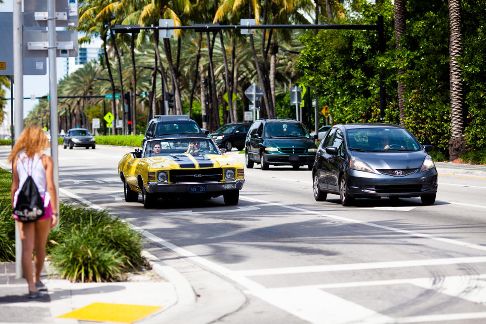Cars On Collins Ave