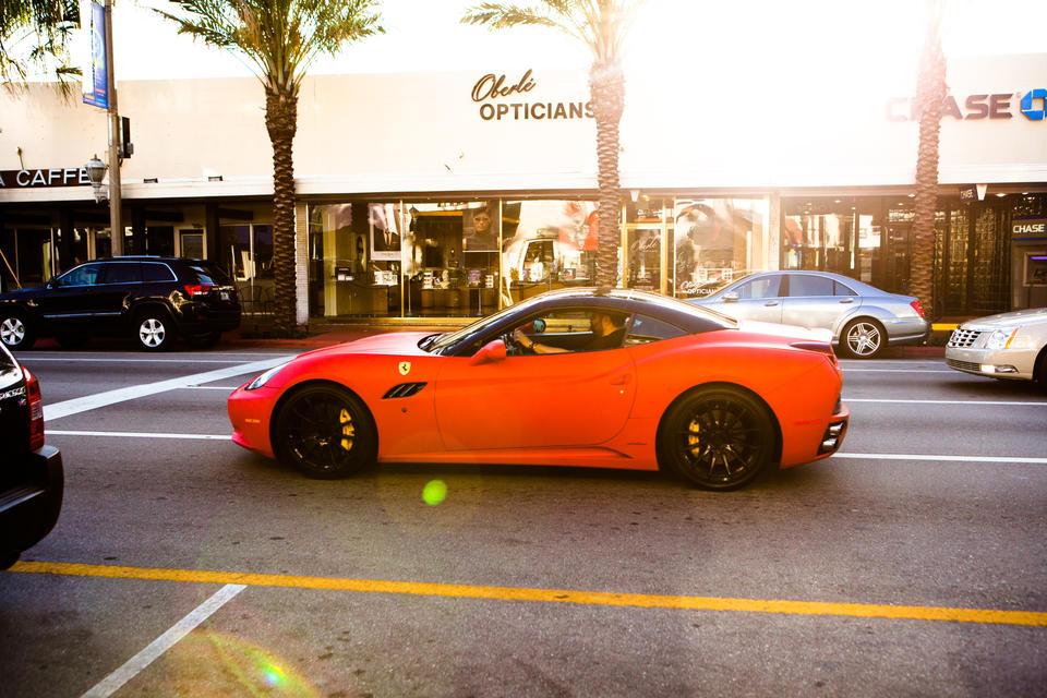 Ferrari In Surfside