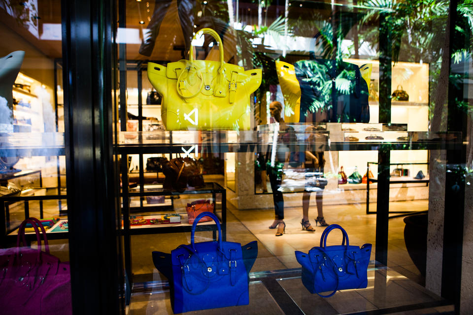 Handbags In Window