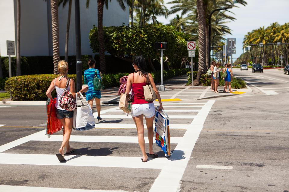 Women Crossing Street