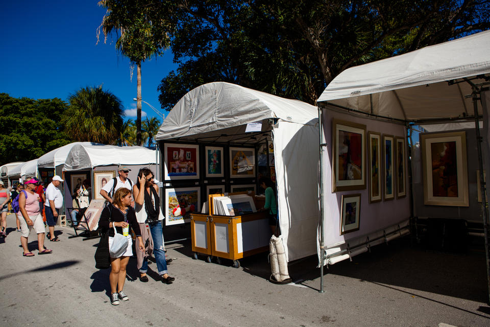 Coconut Grove Arts Festival Tents