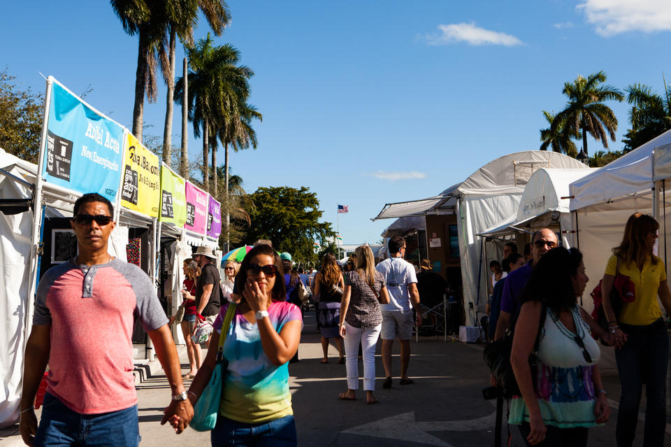 People At Coconut Grove Arts Festival