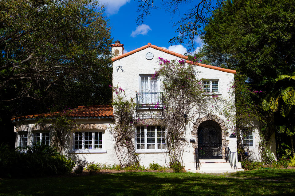Coral Gables White Home