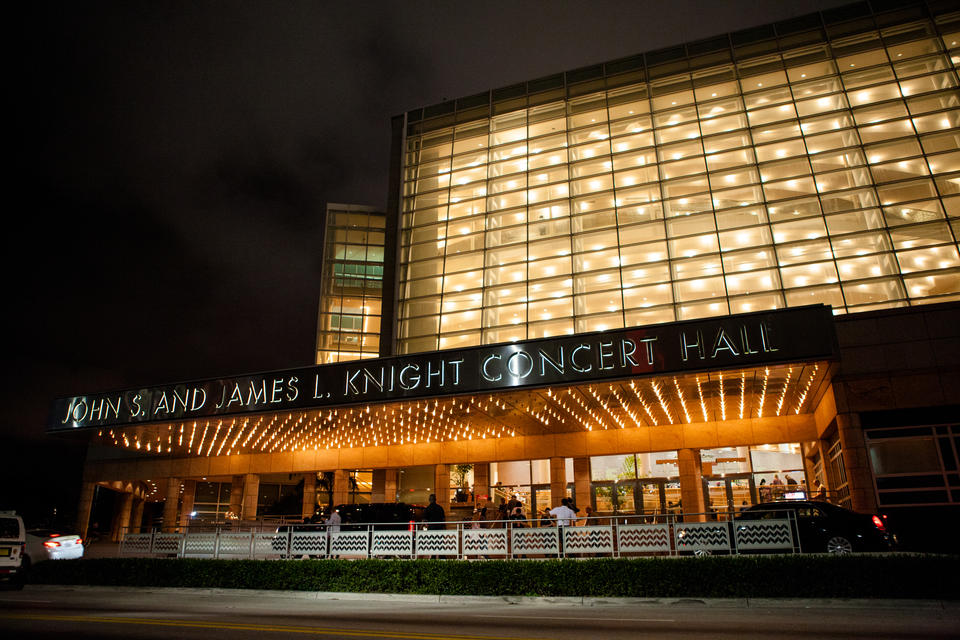 Adrienne Arsht Center At Night