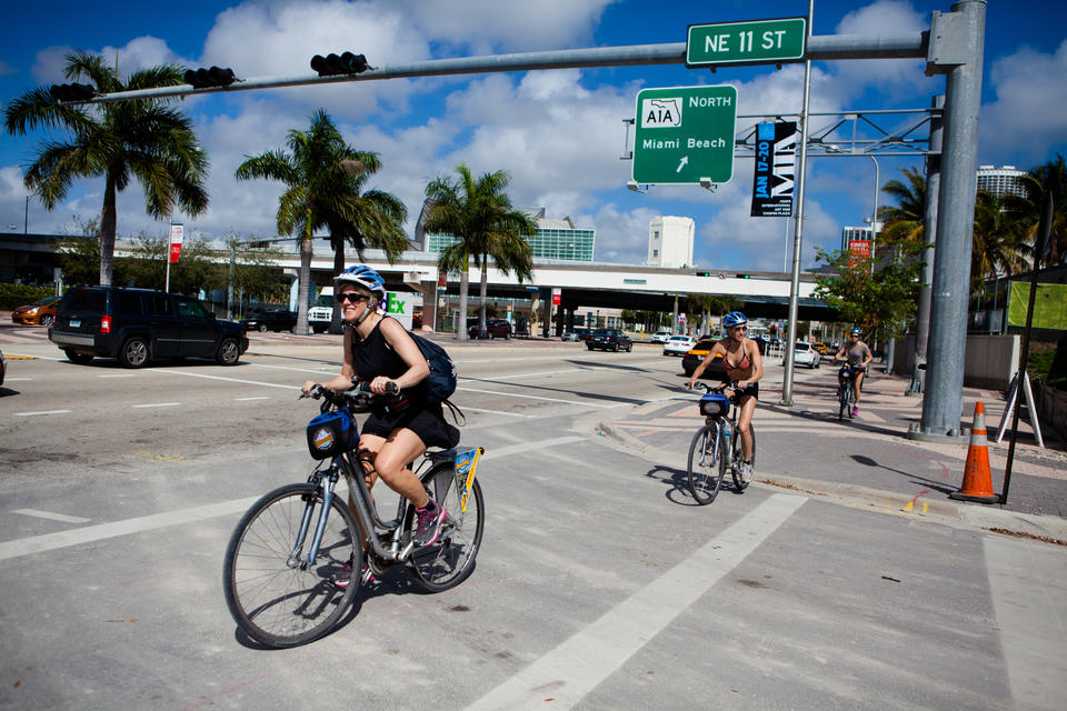 Downtown Miami Bicyclists