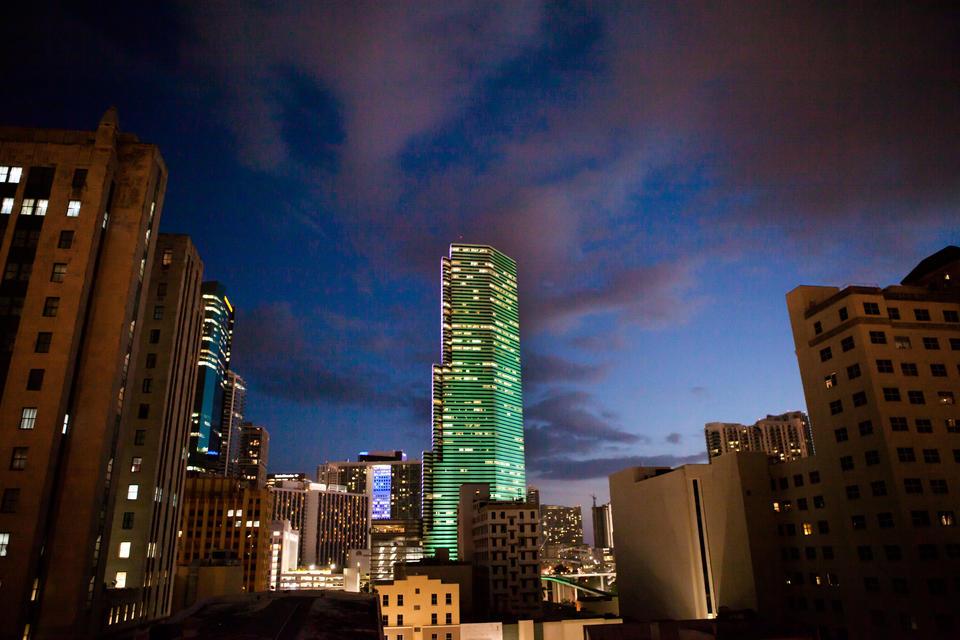 Miami Tower At Night