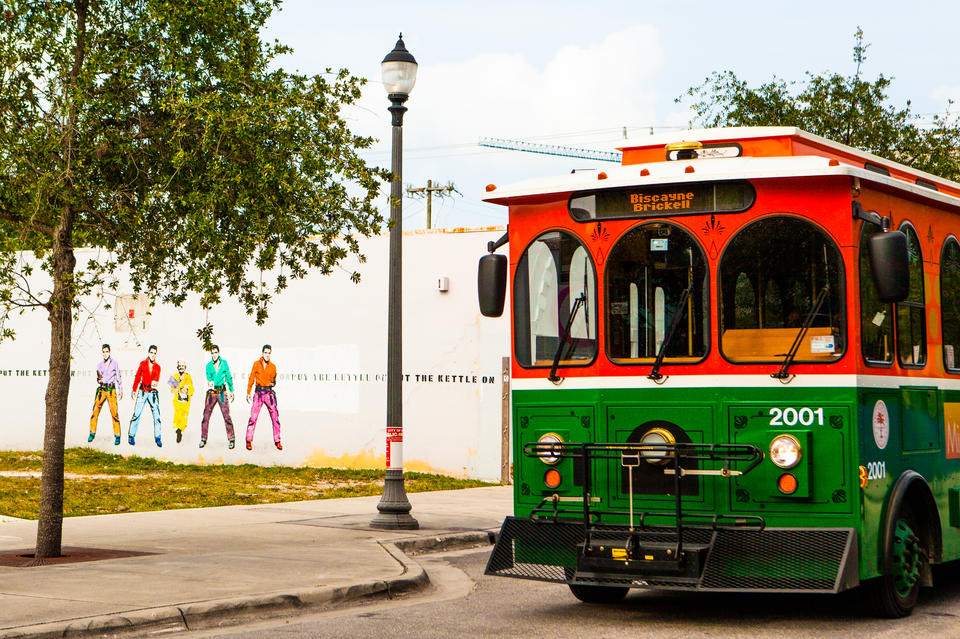 Trolley In Design District