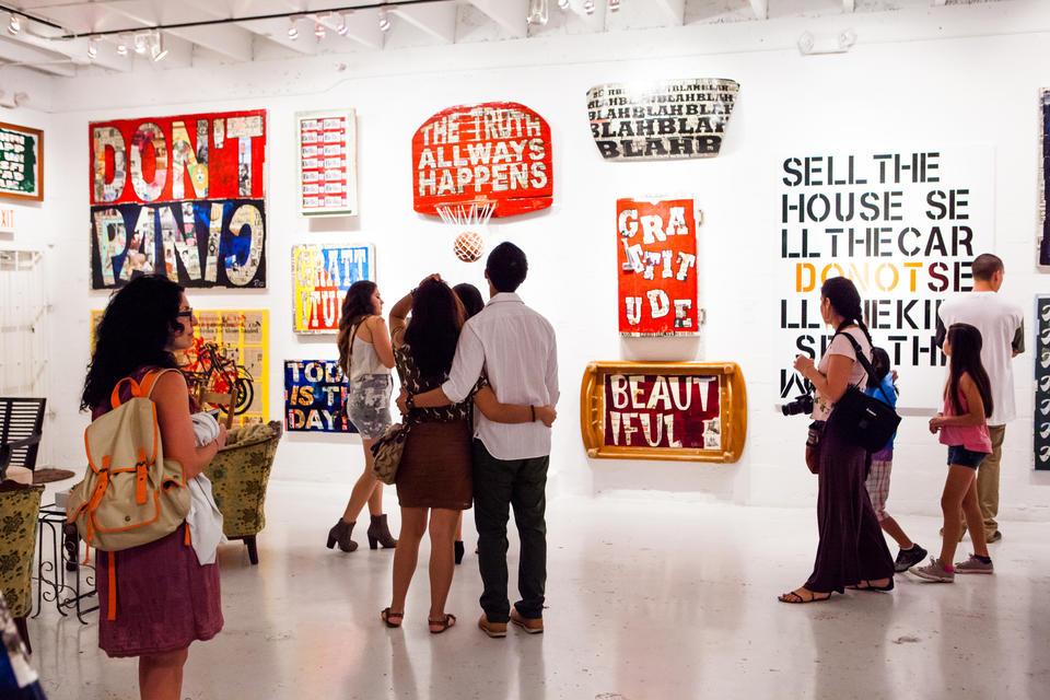 People In Wynwood Art Gallery
