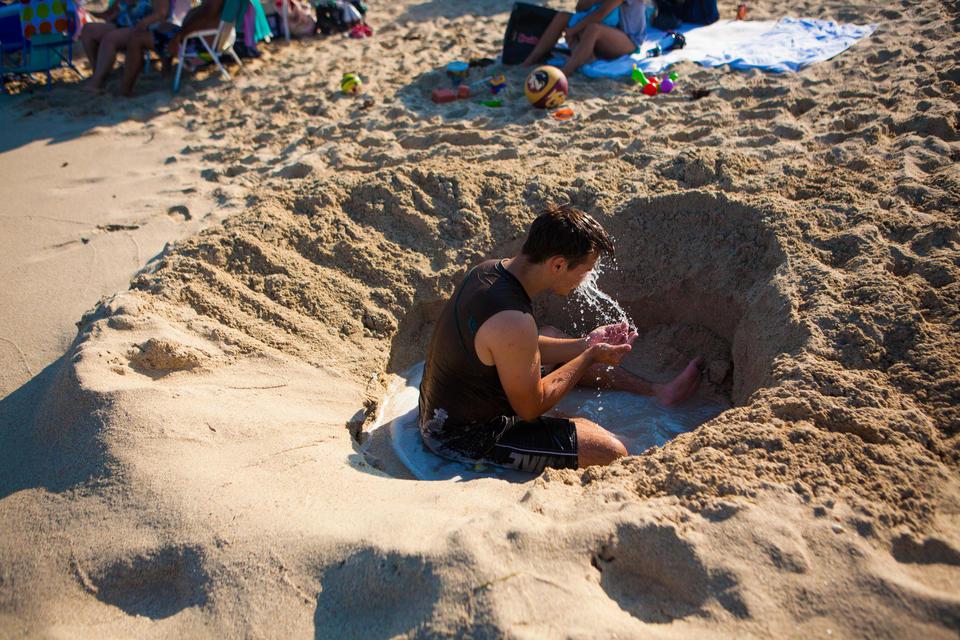 Guy In Sand