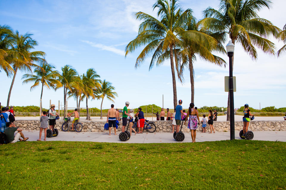 Segways On Ocean Drive