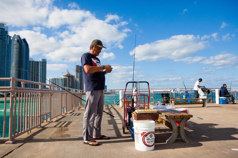 Man On Fishing Pier